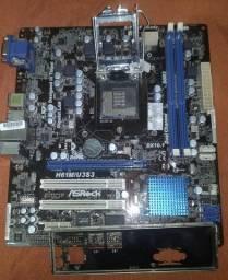 Kit gamer i5 3470 asrock h61 usb e sata 3.0 c/ espelho socket 1155