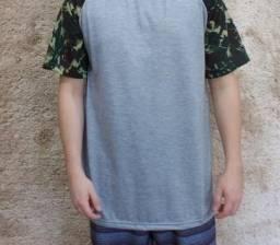 Camiseta raglan camuflada