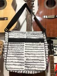 Bolsa com tema musical, partitura