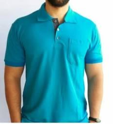 Camisas polo masculina em malha piquet
