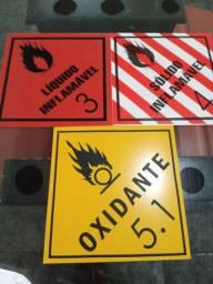 Placas produtos perigosos