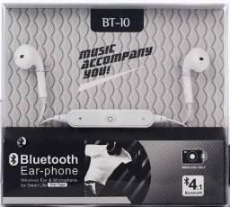 Fone Bluetooth Auricular Esportivo Musica e Atender Ligações - Bluetooth