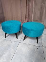 Banqueta Puff Azul NOVO