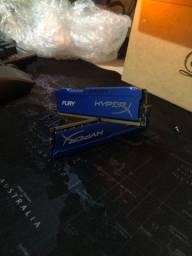 Kit memória Ram hyperx fury 16Gb (2x8gb)ddr3 1866mhz