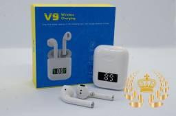 Fone Bluetooth V9/ i99 TWS smart sincronização e painel de bateria lançamento!