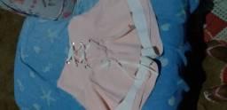 Short saia rosa com branco novo tam 38/40 vendo ou troco