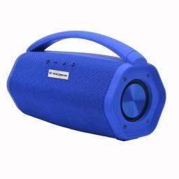 Caixa de som Goldship Aqua Boom Azul, com garantia e nota fiscal