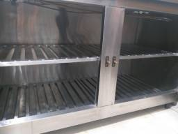 Refrigerador Horizontal Inox 2 portas