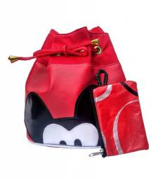 Bolsa Feminina Promoção Pronta Entrega Mickey Vermelho