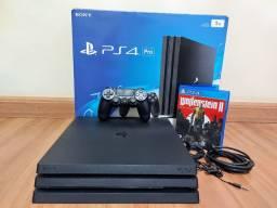 Playstation 4 Pro 1TB Completo + Jogo Wolfenstein 2