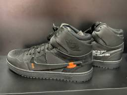 Tênis Nike Jordan off White preto 41