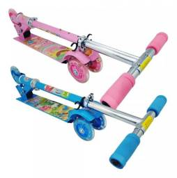 Patinete Infantil Com 3 Rodinhas Divertido Possui Luz - Pop Brinquedos