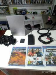 PlayStation 2 slim desbloqueado funcionado perfeitamente entrega gratuita parcela até 12 x