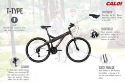 Mountain Bike Aluminio T Type caloi aro 26 - 21 marchas
