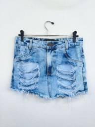 Saia jeans destroyd