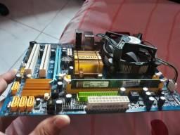 Kit placa mãe processador memória ..