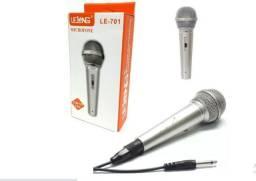 Microfone Karaokê Canto Festa Profissional + Cabo 2,5mt 701