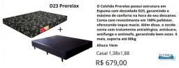 Conjunto casal espuma prorelax d23 - entrega e montagem gratuita