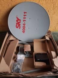 Antena Sky com aparelho