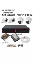 Kit completo de câmeras c/DVR