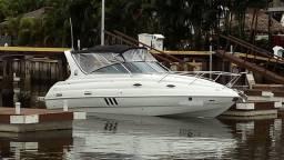 Lancha 28 pés Nova, cabinada, completa, motor turbo diesel eletronico