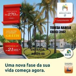 2-Residencial Boulevard II, casas com 2quartos, com entrada de R$499,00