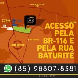 Loteamento Terras Horizonte no Ceará na margem da BR116.(