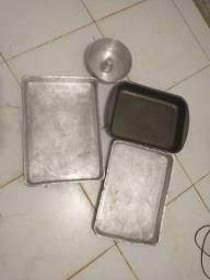 Jogo Assadeiras Teflon e Alumínio