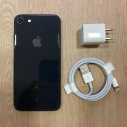 Loja física. IPhone 8 64Gb preto impecável 85% bateria retira hoje