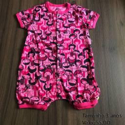Macacão pijama tamanho nas fotos