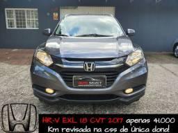 Honda HR-V EXL 2017 de única dona revisada e placa i