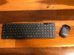Kit teclado e mouse sem fio (usb)