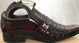 Kit sapatos sociais, cinto + carteira