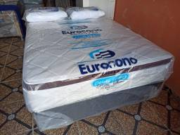 Cama Box Eurosono Casal Molas Ensacadas Mega Oferta