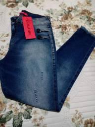 Calça jeans feminina skiny nova. Marca Biotipo, tamanho 40 com strech