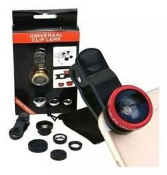 Clip lente universal olho de peixe e angulo aberto