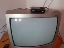 conversor digital + TV 20 polegada