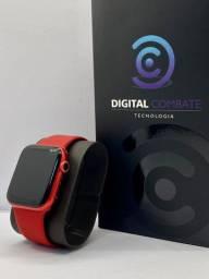 Apple Watch S6 44MM Vermelho + Película + Pulseira brinde