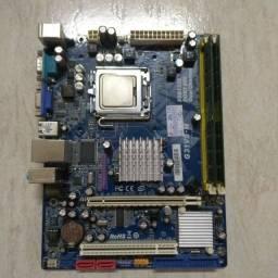 Kit computador Core2Duo +2gb ram +placa mãe socket 775