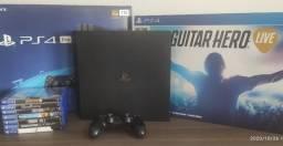 PS4 Pro 2TB + PS VR + Guitar Hero + 15 Jogos