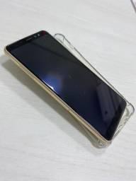 Celular Samsung A8+ 128gb Dourado Usado