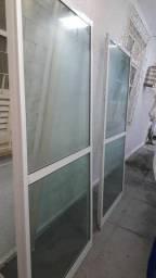 Portas de vidro de correr( VIDRO RAYBAN)