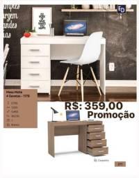 Mesa de escritório 4 gavetas promoção faço Entrega grátis