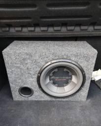 Caixa de som + módulo amplificador