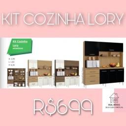 Kit armário de cozinha lory armário de cozinha lory armário de cozinha 000988