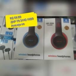 Fone de ouvido sem fio profissional via Bluetooth