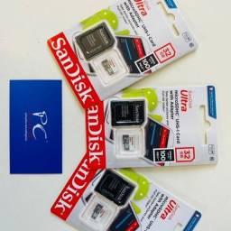 Cartão De Memória Sandisk Ultra Com Adaptador Sd 32gb
