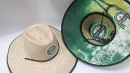 Chapéu Estampado - Palha