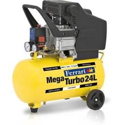 Compressor de ar 24L Mega Turbo - Bivolt - Ferrari