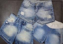 3 shorts jeans em perfeito estado!